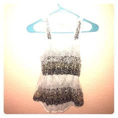 Glittery top ** SALE** Glitter racer back tank top from Express ✨ Express Tops Blouses