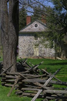 George Washington's Revolutionary War headquarters at Valley Forge in Pennsylvania. Valley Forge, Pennsylvania was the site of the camp where the American Continental Army wintered from 1777–1778 during the American Revolutionary War.
