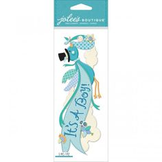 Jolee's Boutique Title Waves Dimensional Stickers - It's A Boy