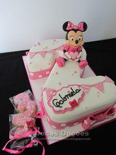 Doces Opções: A Minnie no 2º aniversário da Gabriela Cake, Disney, Desserts, Food, Sweets, Recipes, Tailgate Desserts, Deserts, Kuchen