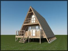 Build your own 24' X 21' A Frame 2 Story Cabin (DIY Plans) Easy to build, ...