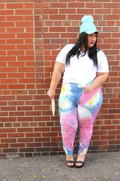 bb5e0134311 Fashion Nova Curve Plus size paint splatter jeans