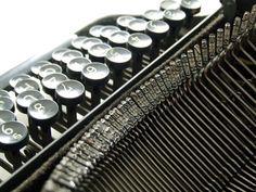 Typewriter: Remember these? Typewriter Keys, Vampire Books, Time Warp, Book Reader, Fantasy Books, Writing A Book, Blog, Music Instruments, Black And White