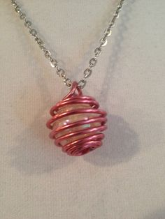 Wire Wrap Pendant Necklace-Cracked Glass on Etsy, $16.00