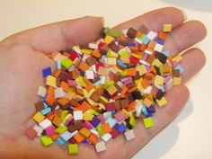 Mini Mosaic tiles from polymer clay#Repin By:Pinterest++ for iPad#