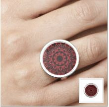 Pattern Art Jewelry by Gwendalyn: Red Leaf Pattern 5 - Pattern Art Jewelry