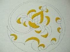 Setting up a Goldwork Embroidery Project