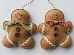 Fleece Gingerbread Man Ornament Gingerbread by GingerSweetCrafts, $6.50