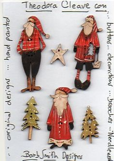 Santa Season Pack - Theodora Cleave - Christmas Button