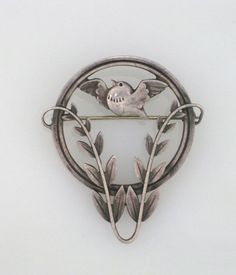 Vintage GEORG JENSEN Sterling Dove Brooch Pin by FLauraChristine, $550.00