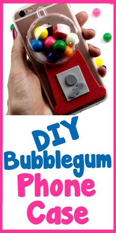 DIY Crafts: How To Make A Bubblegum Phone Case - Easy DIY Phone Case Tutorial…
