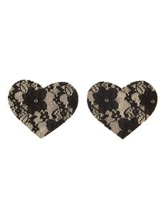 Charlotte Russe: Reusable Lace Heart Petals earrings :)