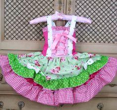 Fairytale Princess Dress Strawberry shortcake by SweetPeaBlossoms, $59.99