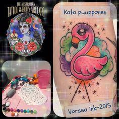 https://www.facebook.com/VorssaInk/, http://tattoosbykata.blogspot.com, #tattoo #tatuointi #katapuupponen#vorssaink #forssa #finland #traditionaltattoo #suomi #oldschool #pinup #flamingo