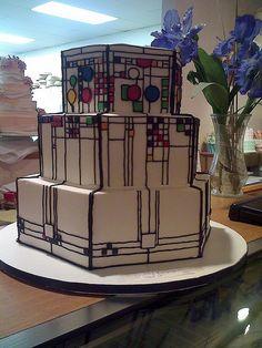 Frank Lloyd Wright window cake by Edible Art, via Flickr