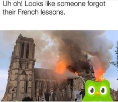 """16 Twisted Notre Dame Memes That'll Take You Straight To Hell - Funny memes that """"GET IT"""" and want you to too. Get the latest funniest memes and keep up what is going on in the meme-o-sphere. Lol, French Lessons, Fresh Memes, Can't Stop Laughing, Liking Someone, Popular Memes, Dankest Memes, Lost Memes, I Laughed"""