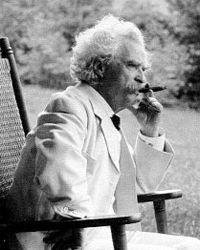 Mark Twain and his cigar