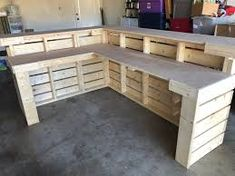 modular shapes 24 inch wood - Google Search Bar Pallet, Palet Bar, Pallet Desk, Pallet Boards, Pallet Bar Plans, Pallet Counter, Outdoor Pallet Bar, Counter Counter, Pallet Benches