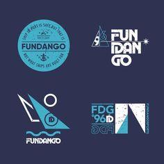 Sailing T-shirt logos for Fundango designed by Medoks. Badge Design, Sailing, Logos, Drawings, Illustration, Fun, T Shirt, Instagram, Candle