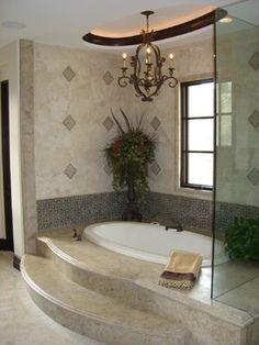 Master Bathroom - traditional - bathroom - orange county - Details a Design Firm Ranch Kitchen Remodel, Basement Remodel Diy, Cheap Bathroom Remodel, Shower Remodel, Bath Remodel, Bathroom Ideas, Traditional Bathtubs, Traditional Bathroom, Dressing Table In Bathroom