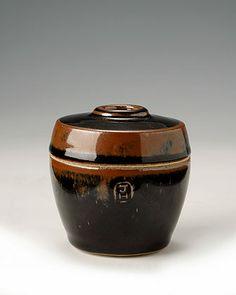 Ceramics by James Hake at Studiopottery.co.uk - 2009. Tenmoku jar. 6cm.