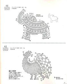 crochet applique charts