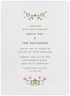 Boho floral spring wedding invitations/ rustic chic spring wedding invitations/ Blush pink and green spring wedding invitations