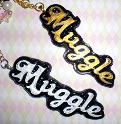 """Show+off+that+muggle+pride+with+this+keychain!+Or+get+one+for+that+Harry+Potter+lover+in+your+life~  Made+from+resin+and+decorated+with+various+glass+and+plastic+beads!  Size: Length:+8+3/4"""" Width:+1"""""""
