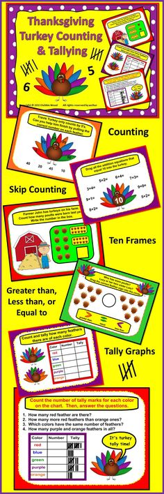 Thanksgiving Smartboard Counting and Tallying for Kinder and First