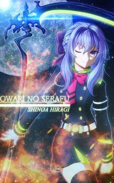 Shinoa hiragi ist ein Character aus Seraph of the End ihre Demonen waffe kommt aus der Schwarzen Demonen-Reihe und heißt Shikama Doji und lebt im waffen gegenstand Kind der vier sicheln