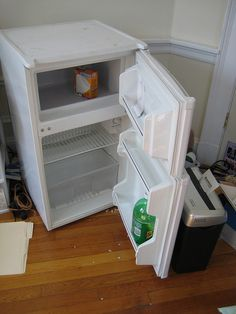 "$30  Spacious compact fridge perfect for dorm living. Accommodates about a week's worth of food    Unlike most compact fridges that have ""mini-freezer"" sections, this unit features a completely separate true 0º freezer, so you can store that carton of i  thanks for the idea"