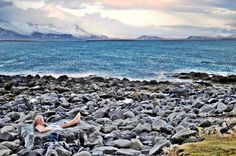 View from a thermal spa for one, Reykjavik, Iceland