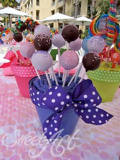 blue paris themed party | Candyland Themed Cake Pops