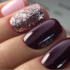 Nail art is a very popular trend these days and every woman you meet seems to have beautiful nails. It used to be that women would just go get a manicure or pedicure to get their nails trimmed and shaped with just a few coats of plain nail polish. Fancy Nails, Love Nails, Trendy Nails, How To Do Nails, Glittery Nails, Pink Glitter, Pink Sparkles, Purple Sparkle, Glitter Gel