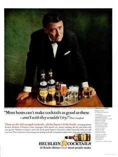 Heublein Cocktails ad ~Peter Lawford (1965)