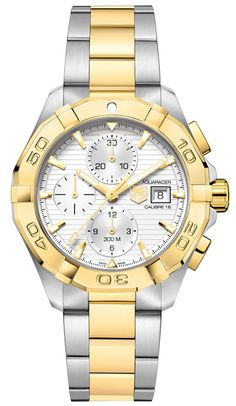 77e167bb14a Aquaracer Calibre 16 Automatic Chronograph 300 M - 43 mm Steel   Yellow  Gold TAG Heuer watch price