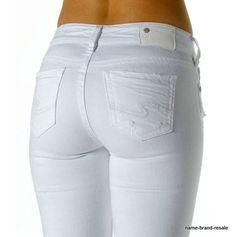b30929488db SILVER SUKI White Denim Capri Jeans Womens 28 Cropped Mid Rise  SilverJeans   SukiCapriCropped Capri