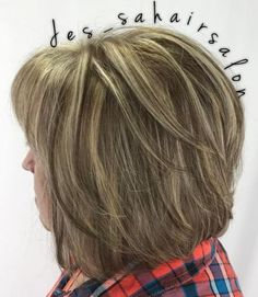 Highlights and Lowlights in Medium Length Cut Long hair is not for everyone. This cut is the perfect medium length for fullness and dimension. Soft layers with light and dark strands mixed throu Medium Length Cuts, Medium Hair Cuts, Long Hair Cuts, Medium Hair Styles, Short Hair Styles, Medium Lengths, Hairstyles Over 50, Modern Hairstyles, Bob Hairstyles