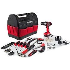 Mastergrip 44 pc Tool Set with Lithium Ion Cordless Drill and Tool Bag - 790059M  $59.99  $149.99  (340 Available) End Date: Apr 272016 07:59 AM GMT-07:00