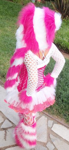 Custom Colors Kandi Kane Swirl Set  Furry Boot by CareBearPLUR, $165.00