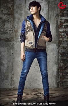 Lee Joon looks so put together in this photo shoot.  Korean men's street fashion is the best!  -Lily.  #asianfashion #mens Koreanfashion