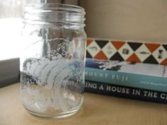 #Glass, #Jar, #RecycledArt Glass etching can be incredibly beautiful, but often it is done with a caustic chemical, which is not suitable for the user and the environment. This recycled jar was etched with a Dremel tool, and results in a organic yet beautiful finish. This