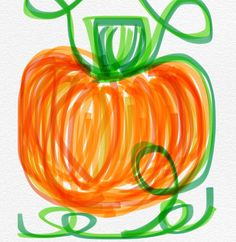 Pumpkin drawing down on my iPhone pumpkin doodle Halloween decorations fall decorations