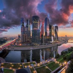 """Moscow International Business Center """"Moscow-city"""" // Московский международный деловой центр """"Москва-сити"""" Modern Architecture Design, Concept Architecture, World Largest Country, Cool Pictures, Beautiful Pictures, Urban Beauty, Largest Countries, City Photography, Wonders Of The World"""