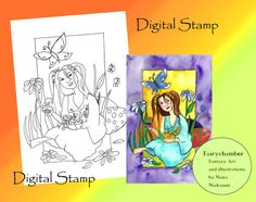 Easter Suprise  Digital Stamp  Instant Download  by fairychamber