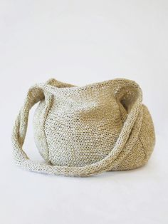 Silk & Linen Paper Handbag by Setsuko Torii | www.habutextiles.com