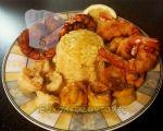 pikilia garidon me pilafi Greek Sweets, Shrimp, Meat, Chicken, Food, Essen, Meals, Yemek, Eten