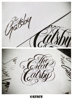 Great Gatsby typography somethingvintage.com.au