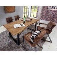 Esstisch Mit Stuhlen Escoba Aus Akazie Massiv Mit Baumkante Im Loft Style 5 Teilig Esstisch Stuhle Kuchentisch Und Stuhle Stuhle Gunstig