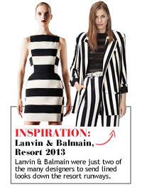 Resort Black & White Striped Pieces